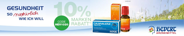 10 EXTRA-Rabatt auf die Markenprodukte von Hevert