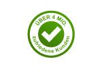 Logo 4 Mio. zufriedene Kunden