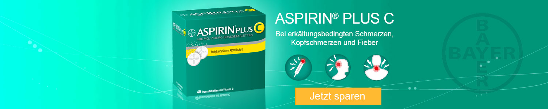 Aspirin Plus C bei Schmerzen, Erkältung, Fieber