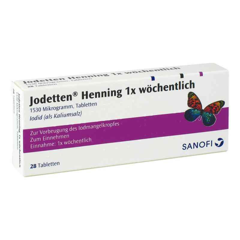 Jodetten Henning 1x wöchentlich 1530 Mikrogramm  bei apotheke.at bestellen