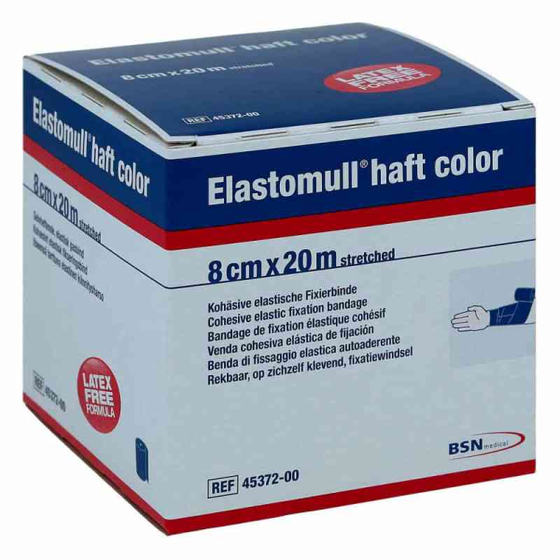 Elastomull haft color 20mx8cm blau Fixierbinde  bei apotheke.at bestellen
