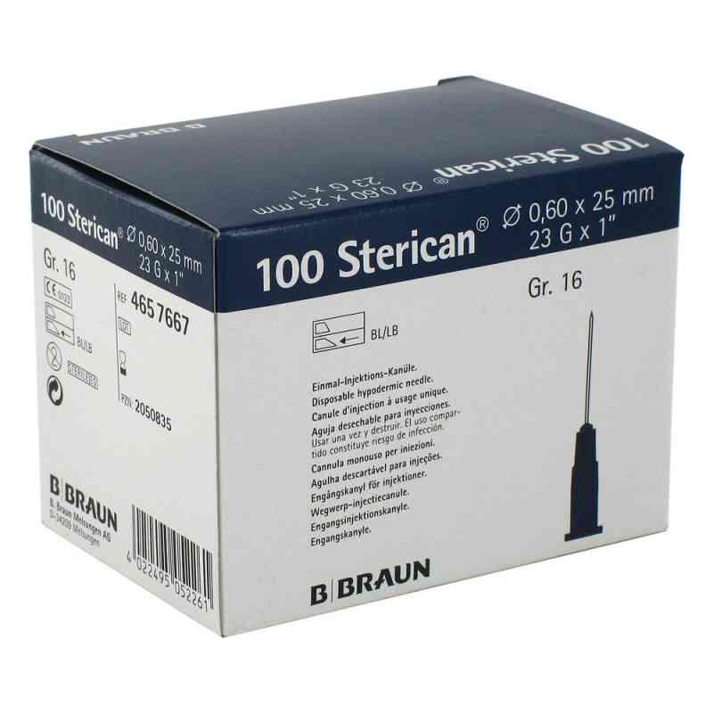 Sterican Kanüle luer-lok 0,60x25mm Größe 1 6 blau  bei apotheke.at bestellen