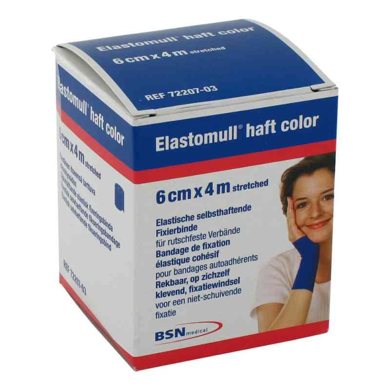 Elastomull haft 4mx6cm 72207-03 blau Fixierbinde  bei apotheke.at bestellen