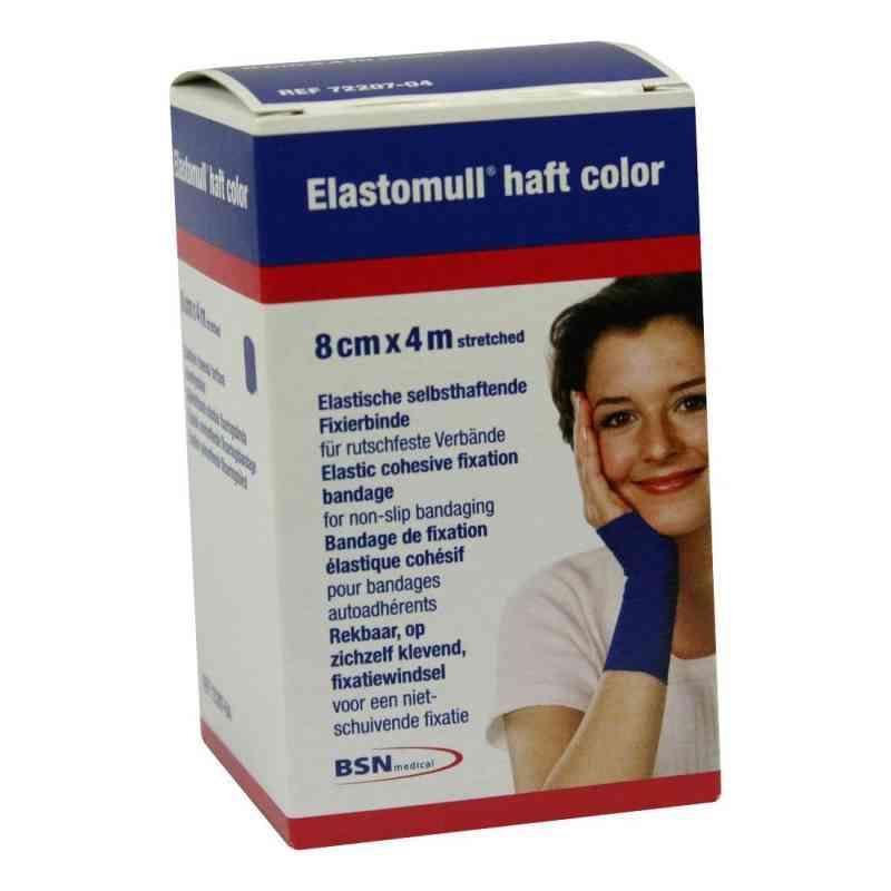 Elastomull haft 4mx8cm 72207-04 blau Fixierbinde  bei apotheke.at bestellen