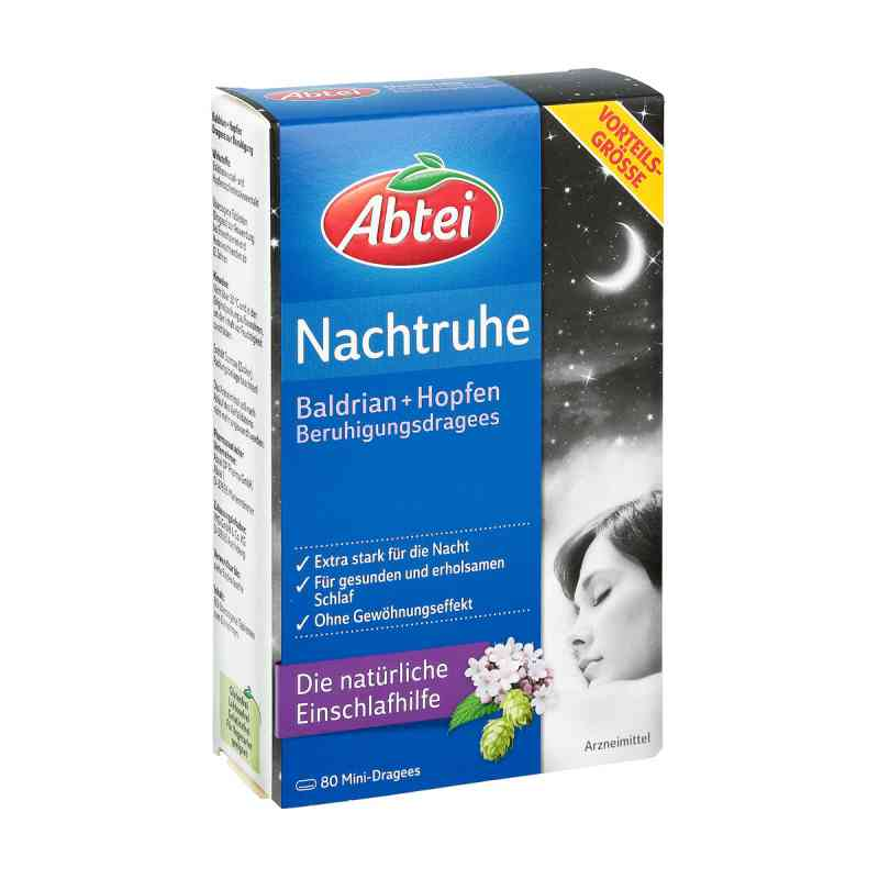 Abtei Nachtruhe Baldrian+hopfen Dragee (s) zur, zum beruhigung bei apotheke.at bestellen