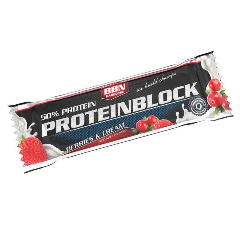 Bbn Hardcore Proteinblock Riegel Berries & Cream bei apotheke.at bestellen