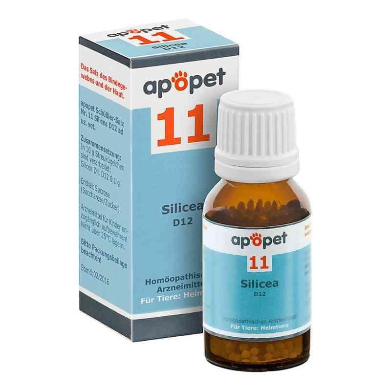 Apopet Schüssler-salz Nummer 11  Silicea D 12 Globuli veterinär   bei apotheke.at bestellen