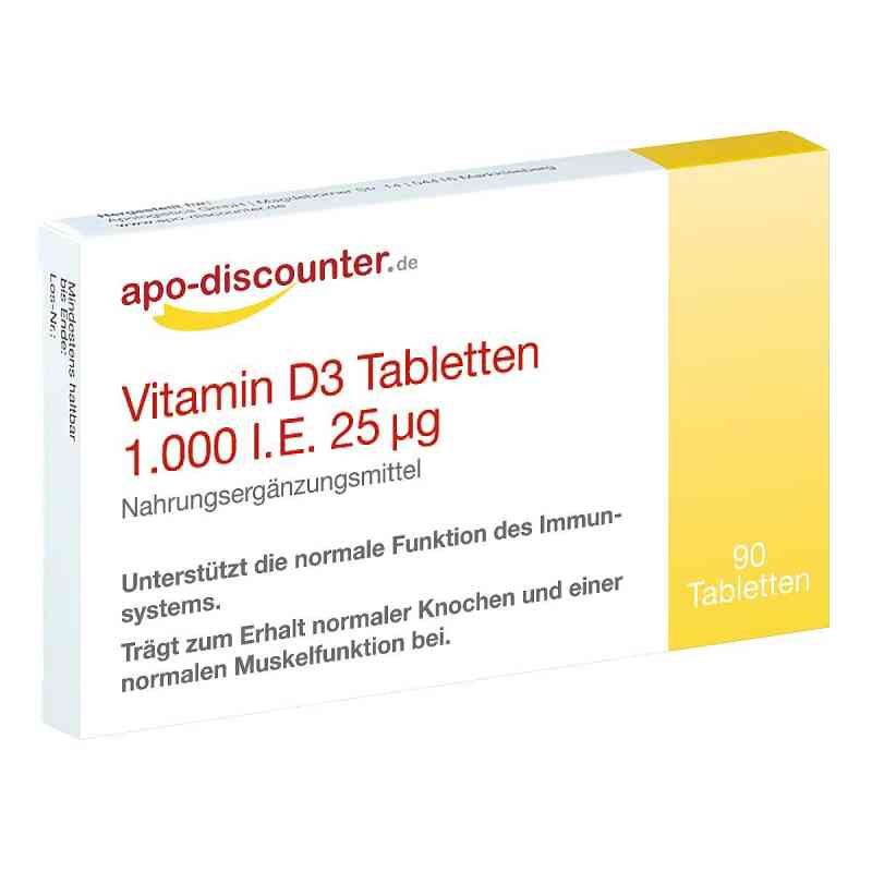 Vitamin D3 Tabletten 1000 I.e. 25 [my]g von apo-discounter  bei apotheke.at bestellen
