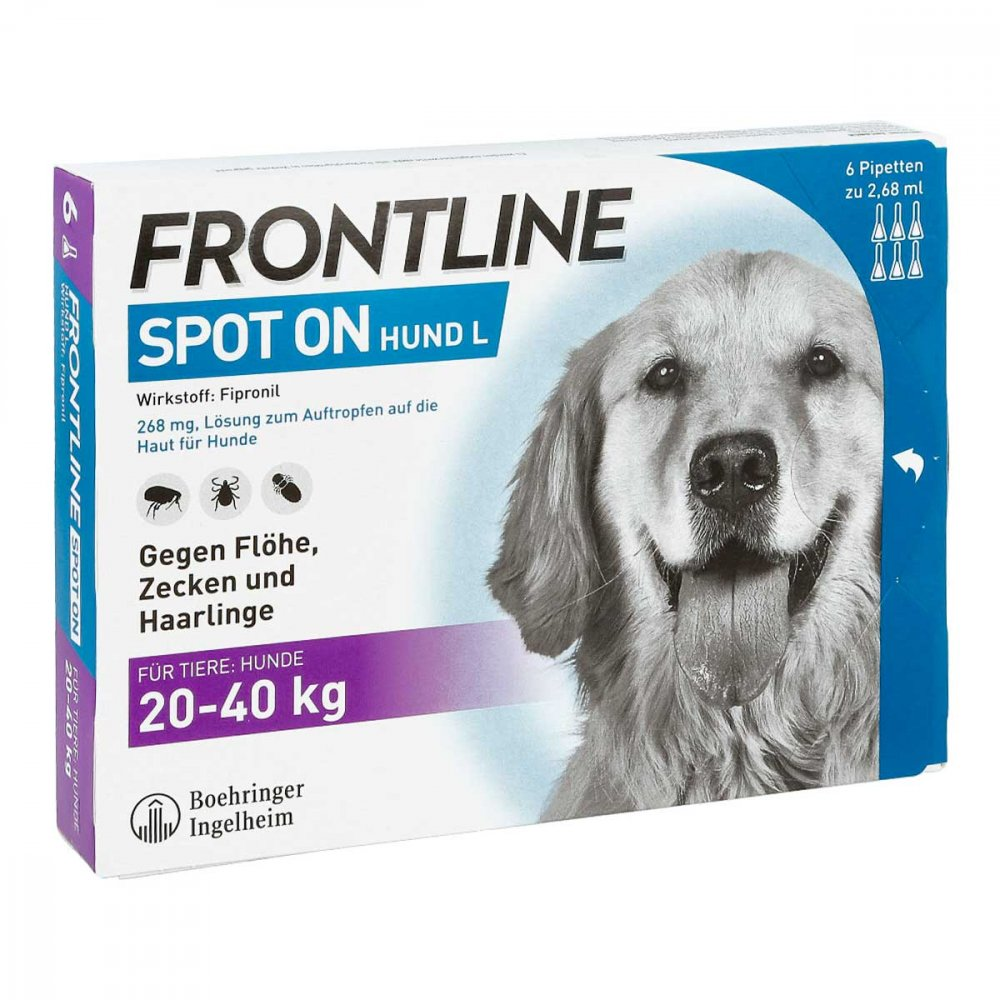 frontline zecken hund