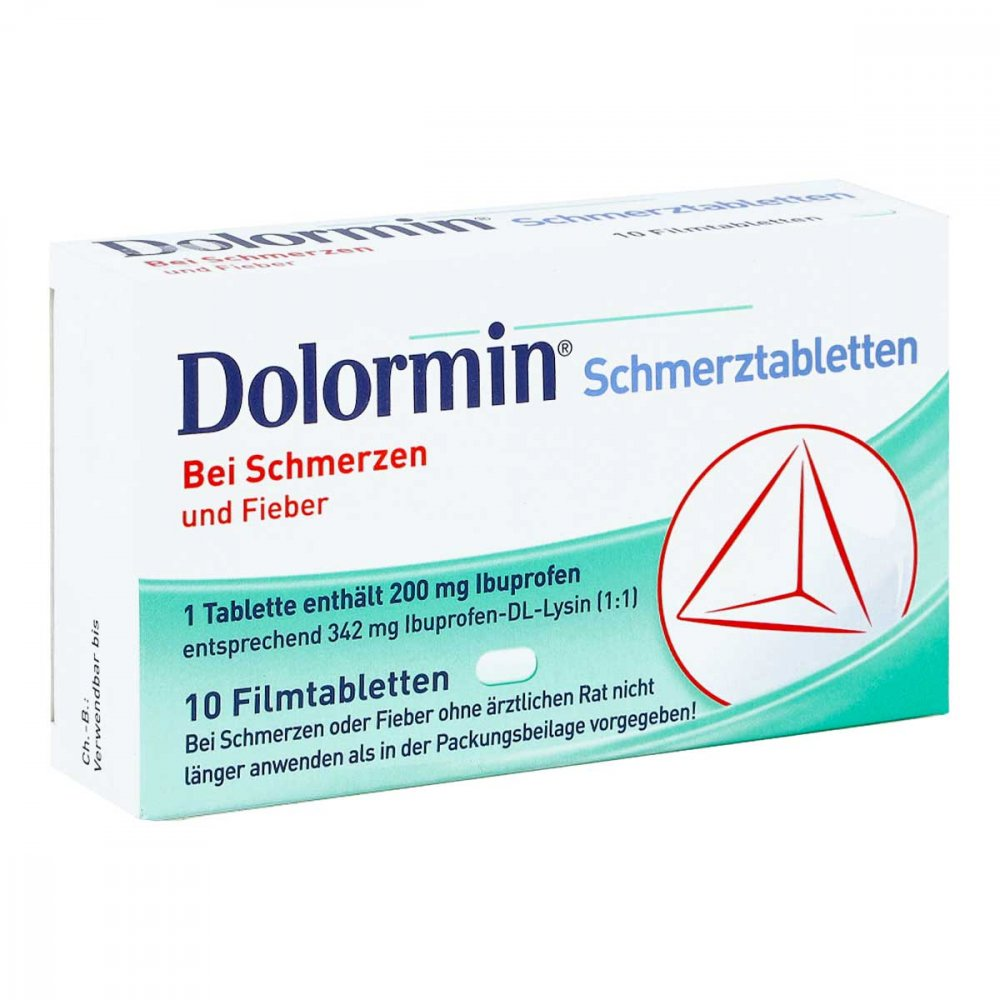 dolormin schmerztabletten 10 stk g nstig bei. Black Bedroom Furniture Sets. Home Design Ideas