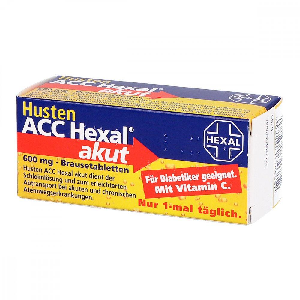 Husten ACC Hexal akut 600 mg 10 stk - günstig bei apotheke.at