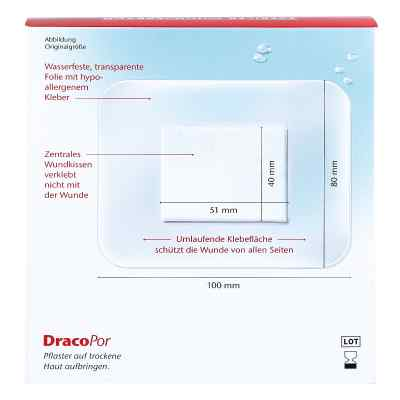 Dracopor waterproof Wundverband steril 8x10cm  bei apotheke.at bestellen