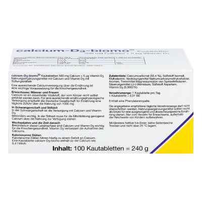 Calcium D3 biomo Kautabletten 500+d  bei apotheke.at bestellen