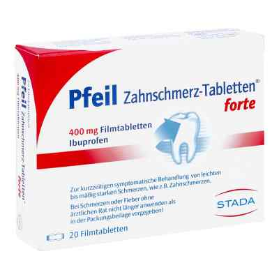Pfeil Zahnschmerz-Tabletten forte 400mg  bei apotheke.at bestellen