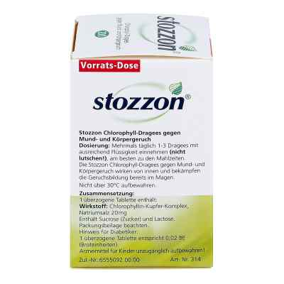 Stozzon Chlorophyll-Dragees gegen Mund- und Körpergeruch