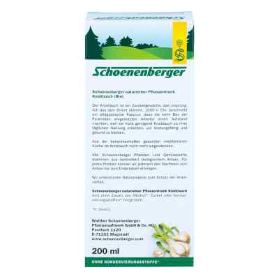 Knoblauch Naturreiner Pflanzentr.schoenenberger  bei apotheke.at bestellen