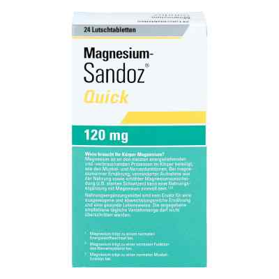 Magnesium Sandoz Quick Minerals Lutschtabletten  bei apotheke.at bestellen