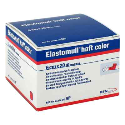 Elastomull haft color 20mx6cm rot Fixierbinde  bei apotheke.at bestellen