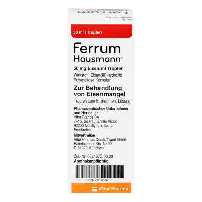 Ferrum Hausmann 50mg Eisen/ml Lösung