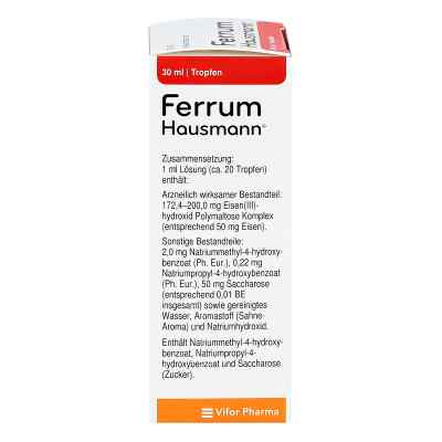 Ferrum Hausmann 50mg Eisen/ml Lösung  bei apotheke.at bestellen