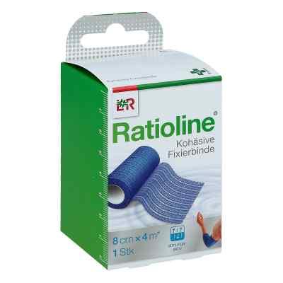 Ratioline acute Fixierbinde kohäsiv 8 cmx4 m blau  bei apotheke.at bestellen