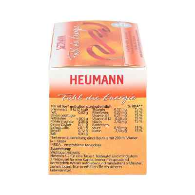 Heumann Fühl die Energie Tee Filterbeutel