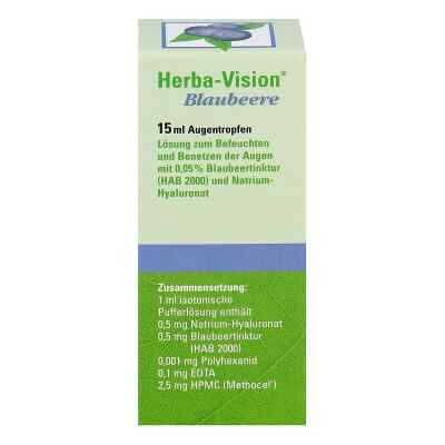Herba-vision Blaubeere Augentropfen  bei apotheke.at bestellen
