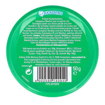 Pulmoll Hustenbonbons Eukalyptus zuckerfrei  bei apotheke.at bestellen