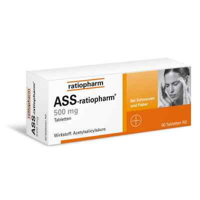 ASS-ratiopharm 500mg 50 stk von ratiopharm GmbH PZN 03404867