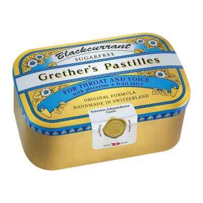 Grethers Blackcurrant Silber Pastillen zuckerfrei Dose  bei apotheke.at bestellen