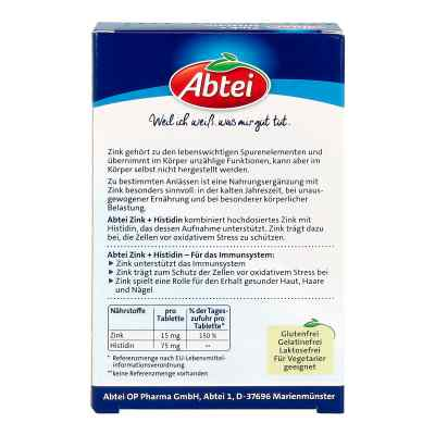 Abtei Zink+histidin Tabletten