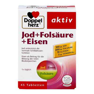 Doppelherz Jod + Folsäure + Eisen Tabletten