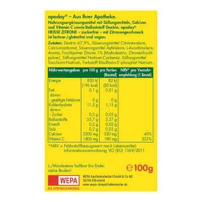 Apoday Heisse Zitrone Vitamin C und Calcium ohne Zucker Pulver  bei apotheke.at bestellen