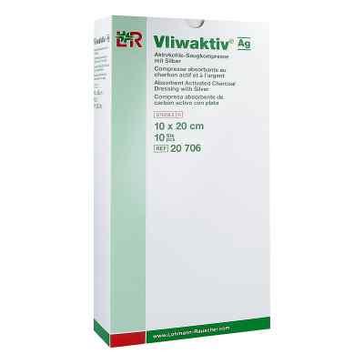 Vliwaktiv Ag Aktivkohle Saugkomp.m.silber 10x20 cm  bei apotheke.at bestellen