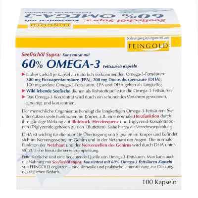 Seefischöl Supra mit 60% Omega-3-fetts.weichkaps.