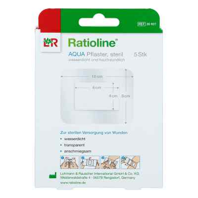 Ratioline aqua Duschpflaster Plus 8x10 cm steril  bei apotheke.at bestellen