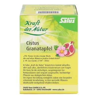 Cistus Granatapfel Tee Kraft der Natur Beutel salus