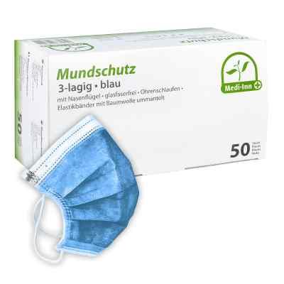 Medi Inn Mundschutz Maske mit Bändern blau  bei apotheke.at bestellen