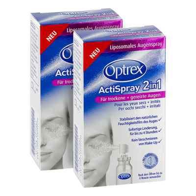 2x Optrex ActiSpray 2in1 für trockene  gereizte Augen  bei apotheke.at bestellen