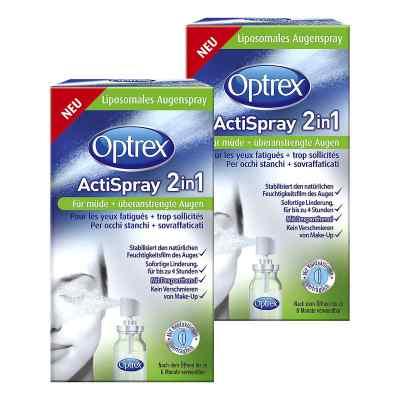 2x Optrex ActiSpray 2in1 für müde  überanstrengte Augen