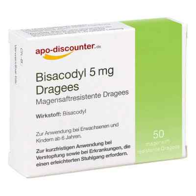 Bisacodyl 5mg Dragees von apo-discounter - bei Verstopfung  bei apotheke.at bestellen