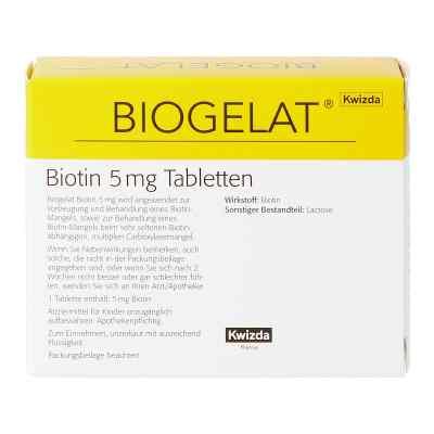 BIOGELAT Biotin 5 mg Tabletten  bei apotheke.at bestellen