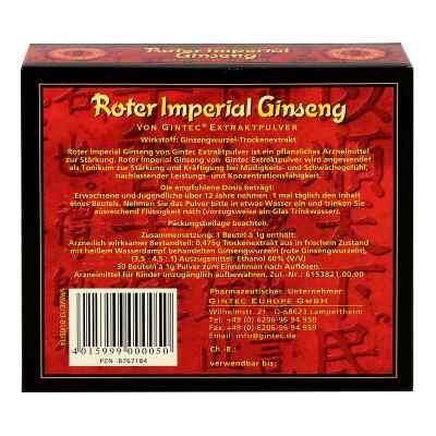 Roter Imperial Ginseng Extraktpulver