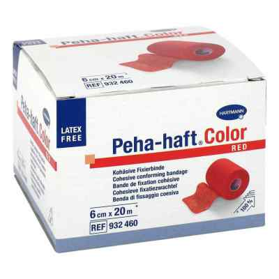 Peha Haft Color Fixierbinde latexf.6 cmx20 m rot  bei apotheke.at bestellen