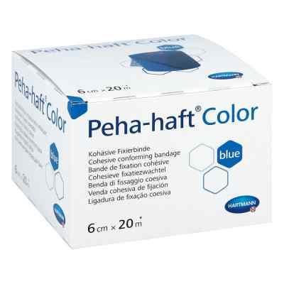 Peha Haft Color Fixierbinde latexf.6 cmx20 m blau