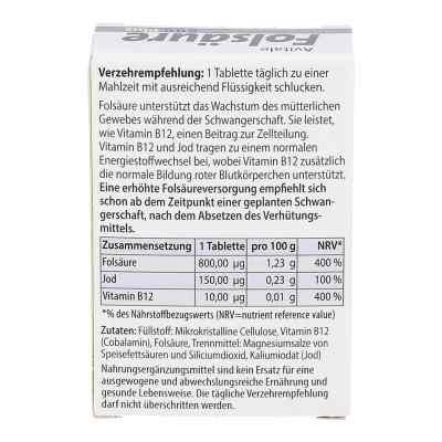 Folsäure 800 Plus B12+jod Tabletten  bei apotheke.at bestellen