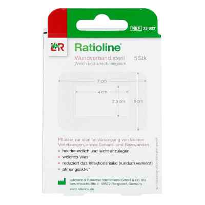 Ratioline acute Wundverband 5x7 cm steril