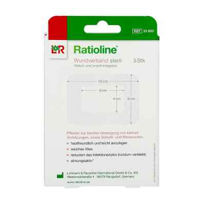 Ratioline acute Wundverband 8x10 cm steril