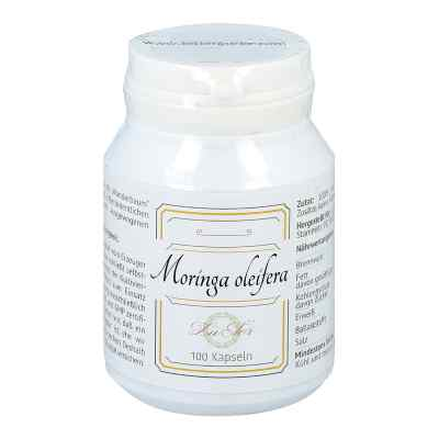 Moringa oleifera Blattpulver in Gelatinekapseln