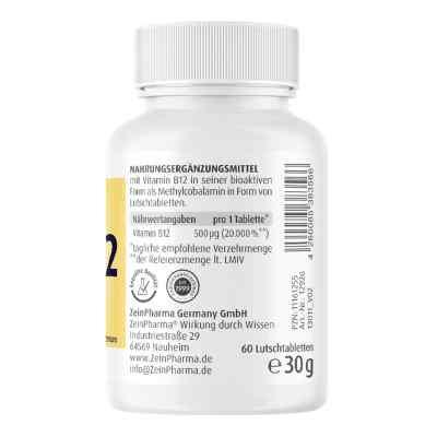 Vitamin B12 500 [my]g Methylcobalamin Lutschtablet  bei apotheke.at bestellen